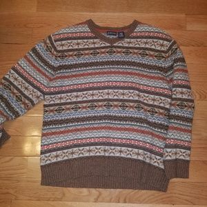 Mens large sweater multicolor st. Johns bay